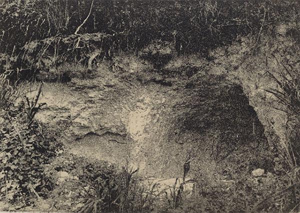 Autor, Ana Mendieta. Título, de la serie Esculturas rupestres (1982)