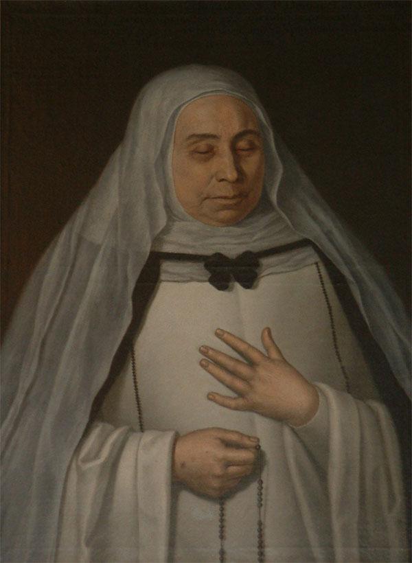 Título, Retrato de sor María de Jesús. Óleo Sobre Lienzo.