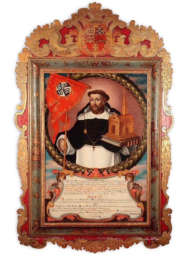 Título, Santo de Guzmán. Óleo sobre lienzo.
